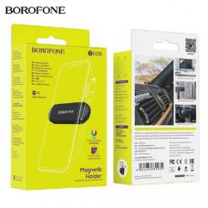 Держатель мобильного телефона BOROFONE BH28 Black Материал изготовления: пластик + силикон. Обработка поверхности: полировка. Размеры: 70х23.5х7.5 мм, диаметр намоточного отверстия: 3.5 мм. Вес: 15 г. Магнит: 4хN38. Подходит для 4.7-6.5 дюймовых мобильных