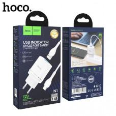 СЗУ-USB Type-C HOCO N1 2.4A  (White)