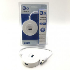 USB HUB 4 порта Smartbuy 7314 USB3.0 белый (1/100)