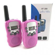 Рация 2шт Орбита Т-388, до 3км, Pink (управление голосом, 10сигналов вызова, функция сканирования, функция блокировки клавиш, индикация заряда)