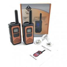 Рация 2шт YG-811 Уоки-Токи, Orange(LED дисплей, питание MicroUSB, 3хАА)