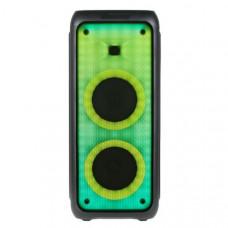 Активная напольная колонка FIRE BOX ELTRONIC 100 с TWS(EL20-17 FIRE BOX) динамик 2х6,5/50W (Bluetooth, FM, SD, AUX, питание 220В, встроен. АКБ, Jack 6.3 мм (микрофон, гитара) 2 шт,Audio input 2х канальный, Микрофон беспроводной-1 шт, Пульт Д/У, размер 69х