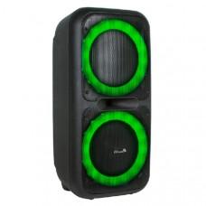 Активная напольная колонка DANCE BOX ELTRONIC 200 с TWS(20-07) динамик 2х8 Bluetooth,Aux,FM.Встроенный аккумулятор 7000 mAh (до 5 часов работы).Разъемы:USB,SD и MicroSD,Jack 6.3 мм (микрофон, гитара) 2 шт.Audio input 2х канальный.Комплектация: Микрофон бе