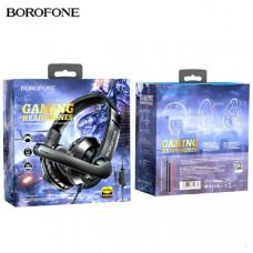 Гарнитура проводная полноразмерная Borofone BO102 Black Спикер: 40мм.Интерфейсы: USB-A + штекер 3.5 мм.Микрофон: всенаправленный, размеры: ?6.0х2.2 мм.Поддержка проводного управления: регулировка громкости, переключатель микрофона.Длина кабеля наушников: