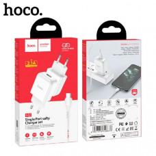 СЗУ-USB Type-C HOCO N2, 2.1A, 1м (White)