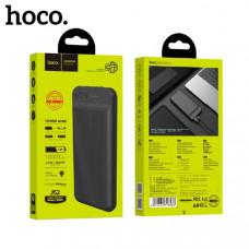 Внешний аккумулятор 10000 mAh HOCO J52 New joy (Black) Micro-USB/Type-C. LED индикатор уровня заряда. Литий-полимерная батарея, ABS+PC огнеупорный. Размер: 139х68х16мм.