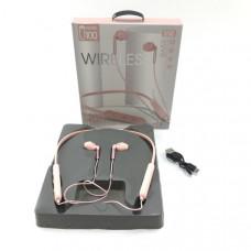 Гарнитура вакуумная Bluetooth SPORTS U100 Pink Диапазон передачи: 10-15м.  Время воспроизведения музыки:  более 5 часов. Емкость аккумулятора: 300мАч