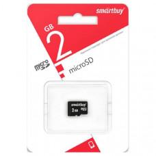 Карта памяти microSD Smart Buy 2Gb (без адаптера)