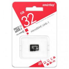 Карта памяти microSDHC Smart Buy 32Gb Class10 UHS-1 без адаптера