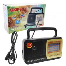 Радиоприемник KIPO KB-408АС (Аналоговый, FM, СВ, КВ, диспл.стрелочный, пит.сетевой+3хR20, вых.науш.)