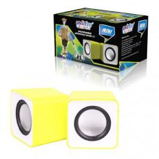 Активная колонка 2.0 SmartBuy MINI, мощность 4Вт, USB, желтые (SBA-2820)