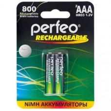 Аккумулятор Perfeo R03 800mAh BL-2