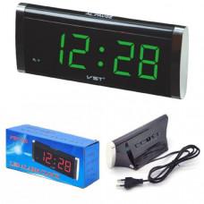 Часы настольные VST 730-2 зеленые цифры Размер: 190х80х63 мм