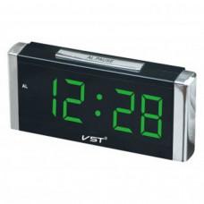 Часы настольные VST 731-2 (зеленые цифры) Размер: 210х95х53 мм