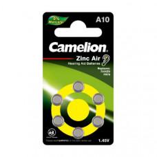 Батарейка CAMELION ZA 10 BL6 (для слуховых аппаратов)   (6/60/3000)
