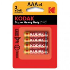 Батарейка KODAK R03 BL-4 Heavy Duty (K3AHZ-4)  (48/240/33600)
