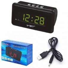 Часы настольные VST 728-2 (Зеленые цифры) Размер: 150х87х55 мм