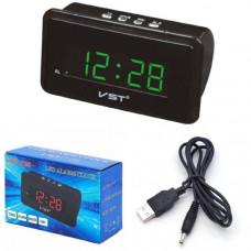 Часы настольные VST 728-4 (Ярко-зеленые цифры) Размер: 150х87х55 мм