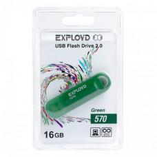 USB флеш-диск 16Gb Exployd 570 зеленый