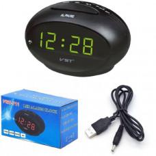 Часы настольные VST 711-2 (Зеленые цифры) Размер: 125х75х75 мм