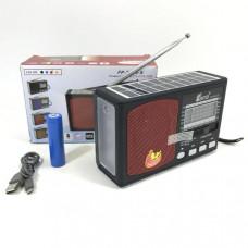 Радиоприемник портативный FP-251U-S Bluetooth, FM, microSD, USB, AUX. Размер: 16х5,5х10. В корпусе установлен фонарик и на верхней панели солнечная батарея