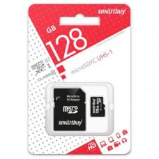 Карта памяти MicroSD Smart Buy 128GB class 10 UHS-1 (с адаптером)