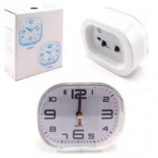 Часы будильник QUARTZ-802 овальные края, 12х9см (питание 2хАА)