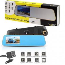 Видеорегистратор зеркало + камера заднего вида TDS TS-CAR12 (HAD-69) (экран 4,3TFT, до 32Gb, датчик движения, цикл.запись, G-sensor)