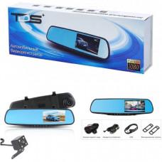 Видеорегистратор зеркало + камера заднего вида TDS TS-CAR13 Дисплей 4.3 TFT  Количество камер 2 Разрешение основной камеры 1080P (19201080) 720P (1280720)        Разрешение дополнительной камеры 1 640х480  Формат записи видео   MP4      Формат записи изоб