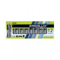 Батарейка Ergolux LR03 Alkaline box-12