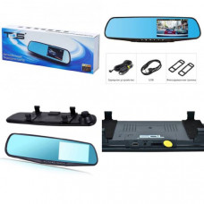 Видеорегистратор зеркало Орбита TDS TS-CAR18 (экран 4,7д) Дисплей: есть Разрешение камеры (MAX): 1920х1080 Количество камер: 1 Тип крепления: зеркало Цвет: черный Размер: 300х80х12 мм Материал: пластик Дисплей 4.3 TFT  Процессор Количество камер-1 Разреш