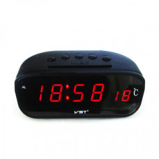 Часы автомобильные VST 803С-1 красные цифры (температура)
